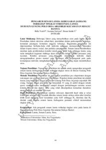 PENGARUH SENAM LANSIA (KEBUGARAN JASMANI) TERHADAP TINGKAT ...